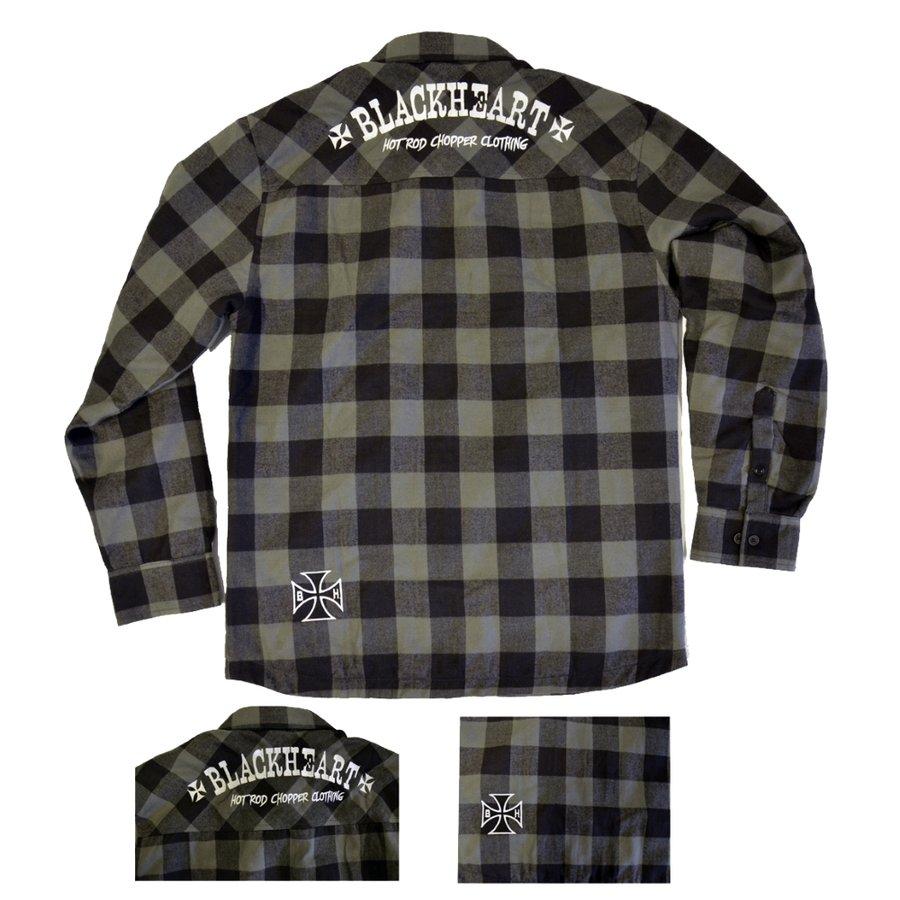 Černo-šedá pánská košile s dlouhým rukávem Blackheart