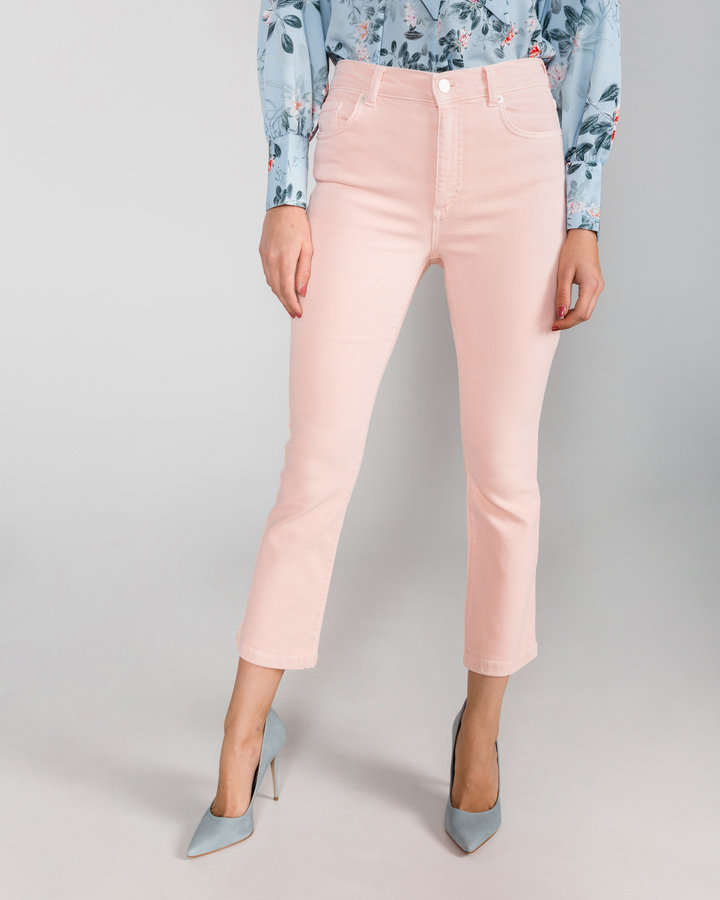 Růžové dámské džíny French Connection - velikost M