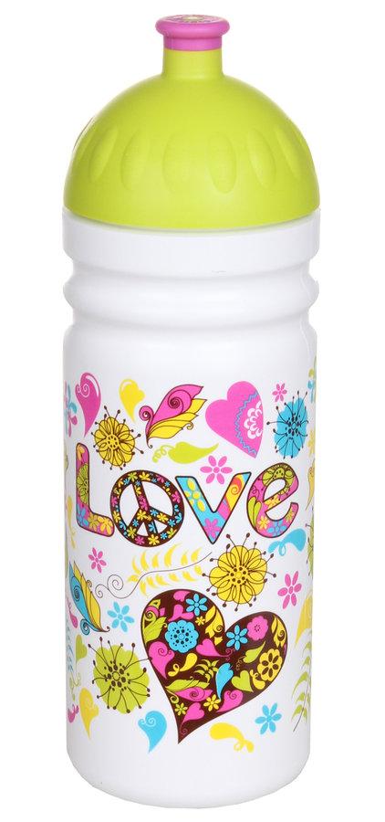 Bílá láhev na pití Zdravá lahev, R&B - objem 0,75 l