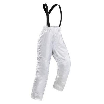 Bílé dívčí lyžařské kalhoty Wed'ze