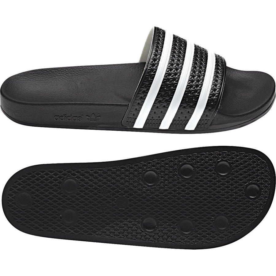 Černé pánské pantofle Adidas - velikost 46 EU