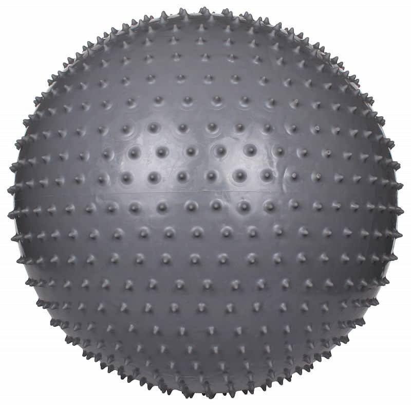 Šedý gymnastický míč Massage III, LiveUp - průměr 65 cm