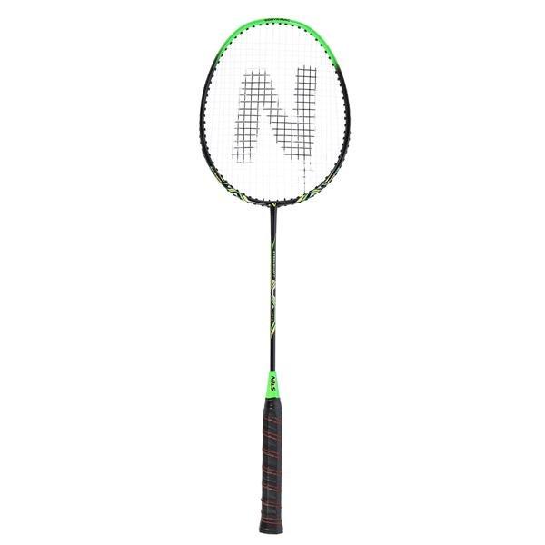 Černo-zelená raketa na badminton Nils - délka 66,8 cm