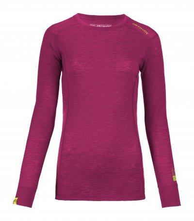 Fialové dámské termo tričko s dlouhým rukávem Ortovox - velikost L
