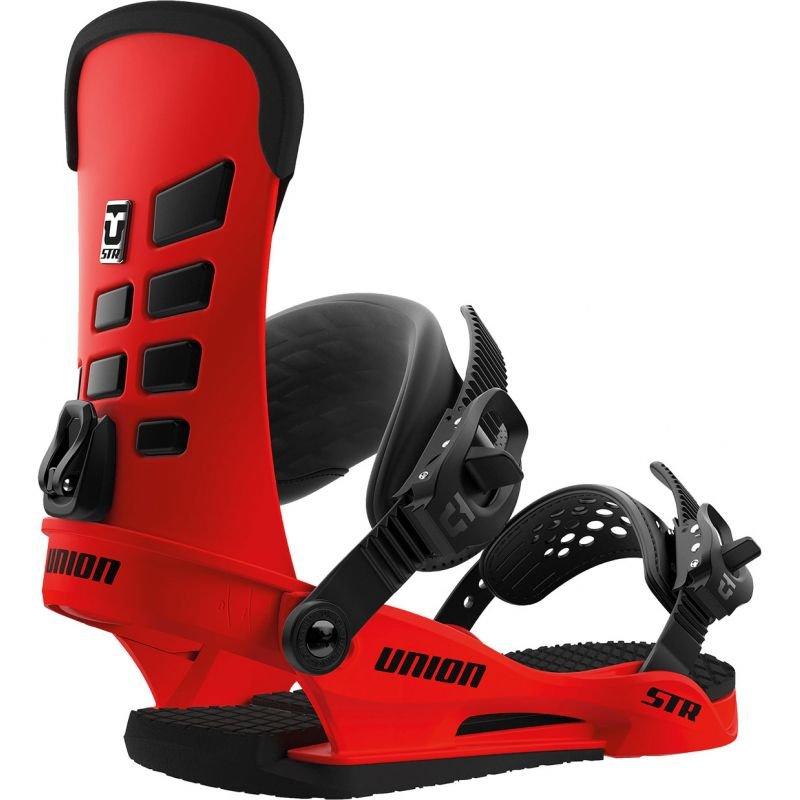 Červené vázání na snowboard Union - velikost M