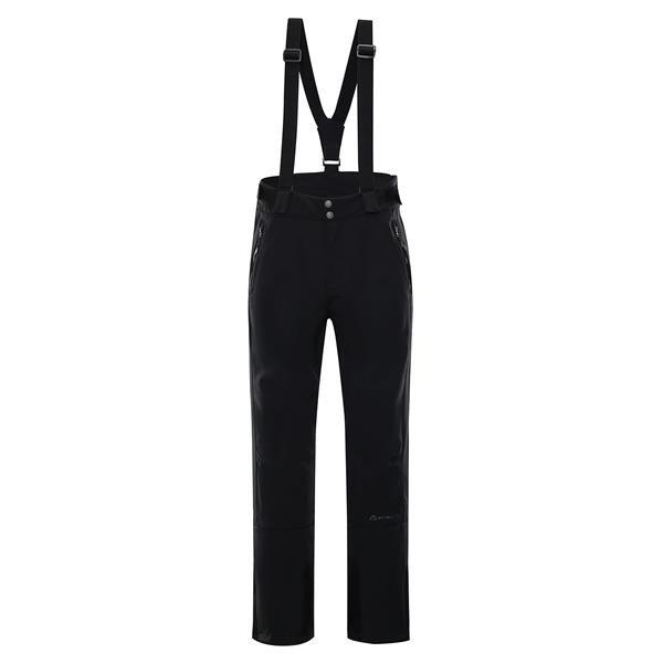 Černé softshellové pánské lyžařské kalhoty Alpine Pro - velikost S
