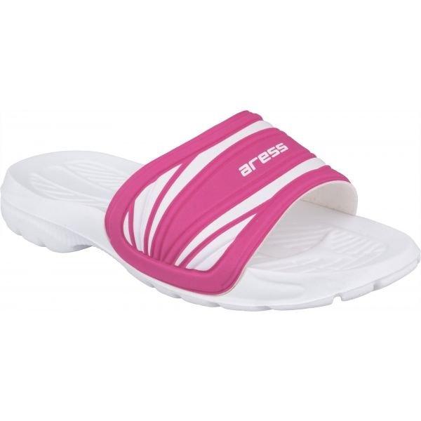 Bílo-růžové dívčí pantofle Aress