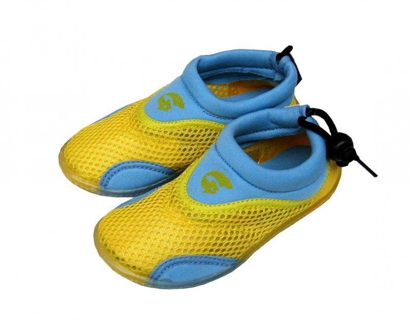 Modro-žluté dětské nízké neoprenové boty Alba, RCM - velikost 25 EU