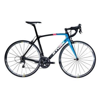 Černý, modrý nebo černo-modrý silniční pánský nebo dámský bicykl Ultra 900 CF, B'TWIN