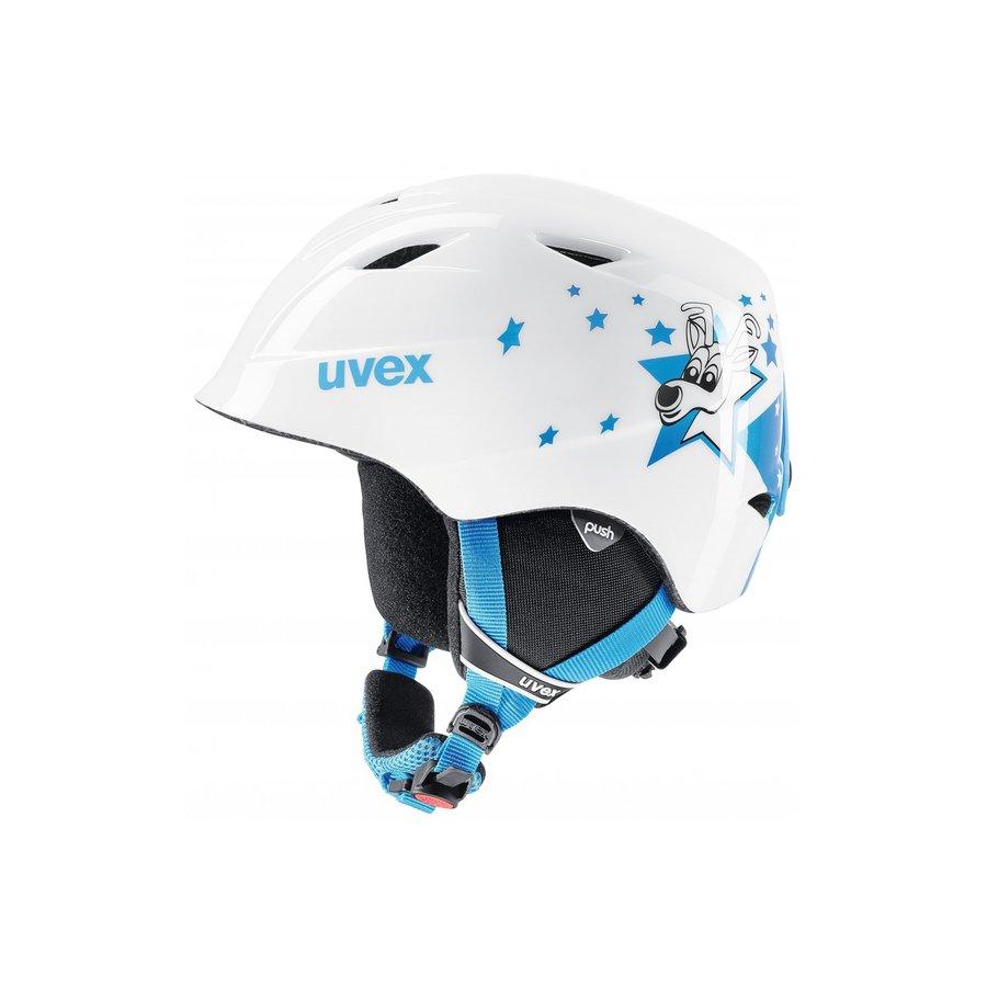 Bílá lyžařská helma Uvex