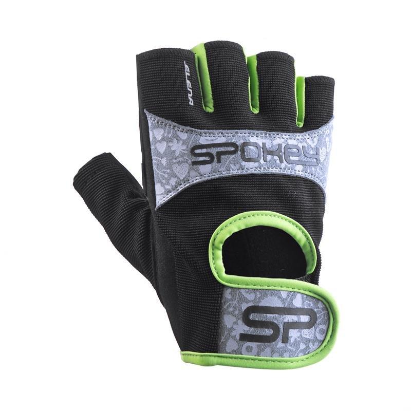 Černo-zelené dámské fitness rukavice Spokey
