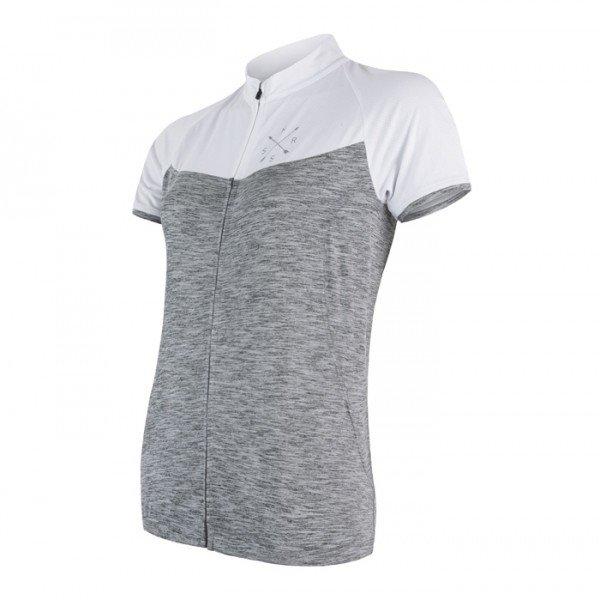 Bílo-šedý dámský cyklistický dres Sensor