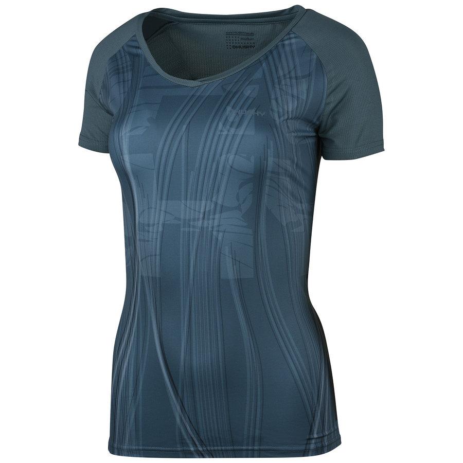 Modré dámské tričko s krátkým rukávem Husky
