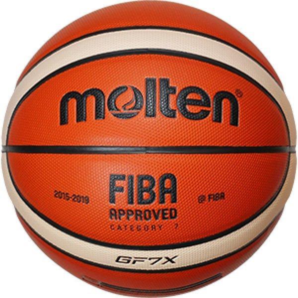 Oranžový basketbalový míč BGF7X, Molten - velikost 7