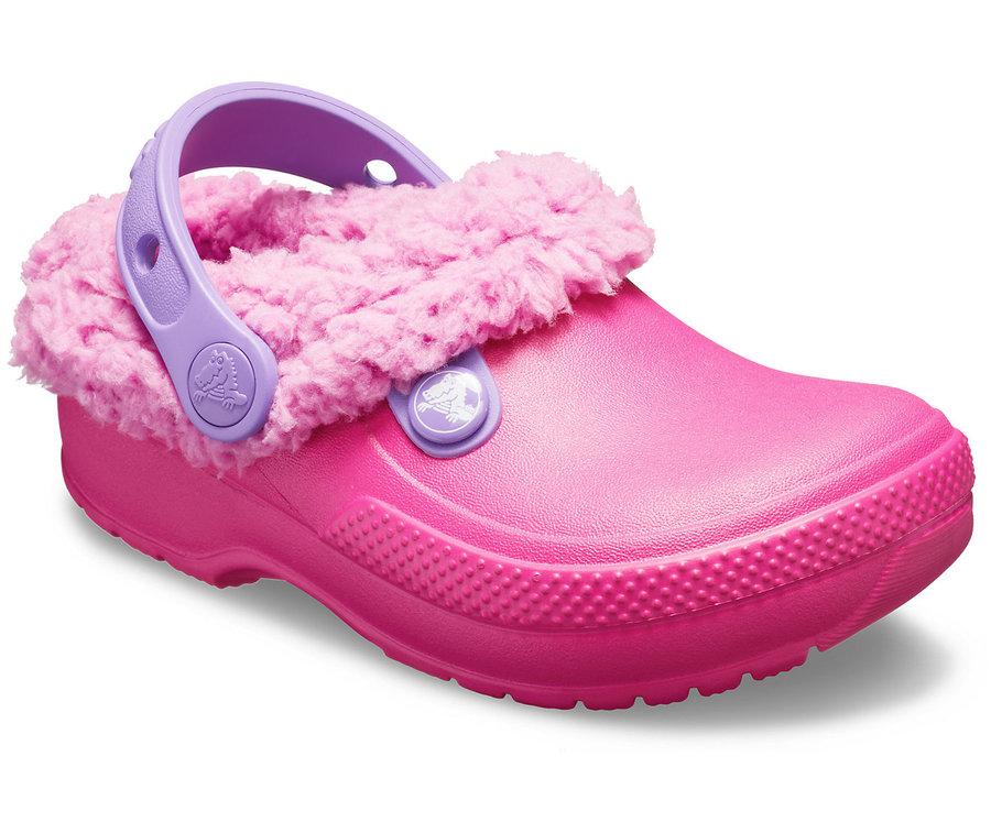 Růžové dětské pantofle Crocs - velikost 28-29 EU