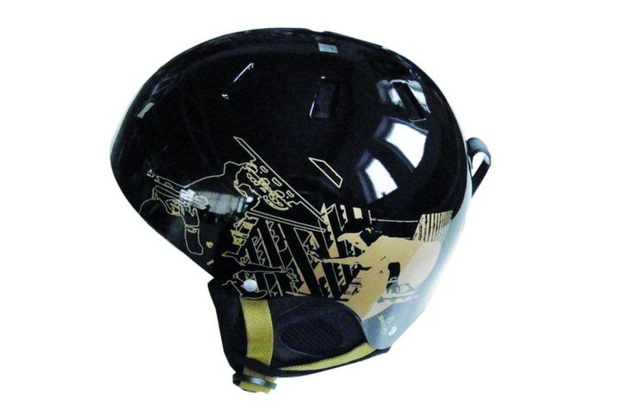 Černá lyžařská helma Snow, SPARTAN SPORT - velikost 53-55 cm