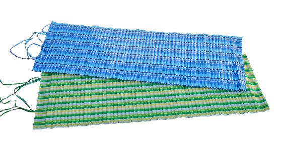 Modré rolovací plážové lehátko Acra - délka 170 cm