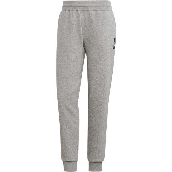 Šedé dámské tepláky Adidas - velikost L