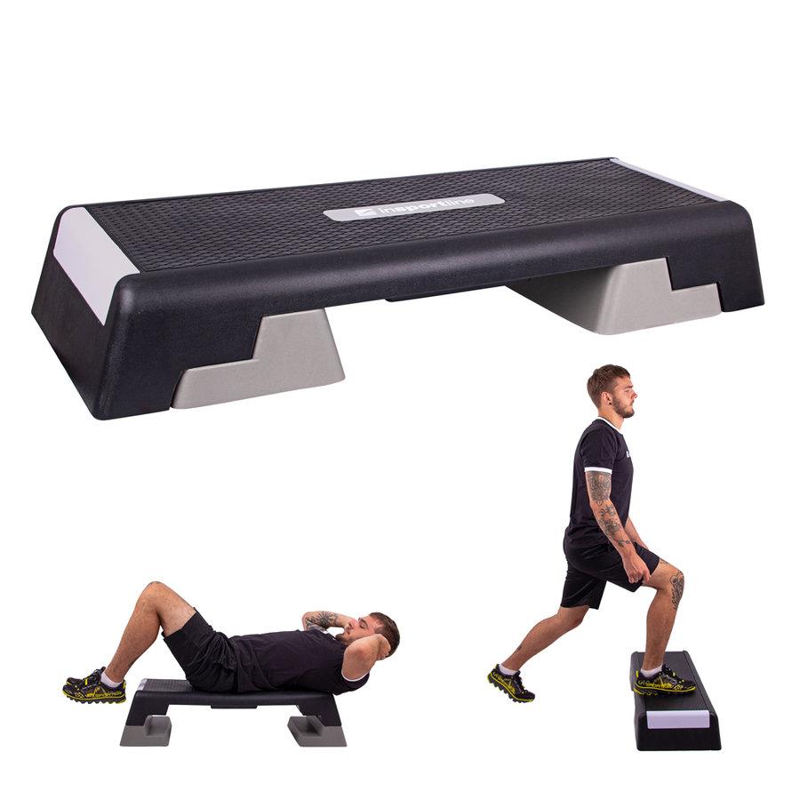 Černo-šedý aerobic step inSPORTline