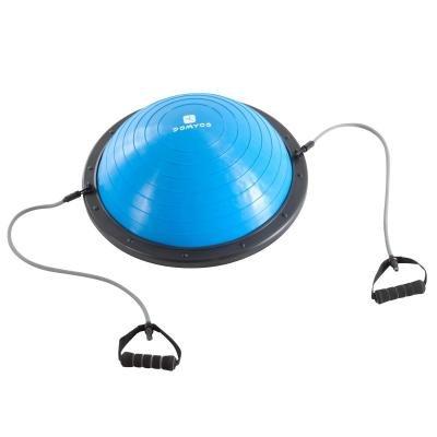 Modrá balanční podložka s gumovými expandéry Domyos