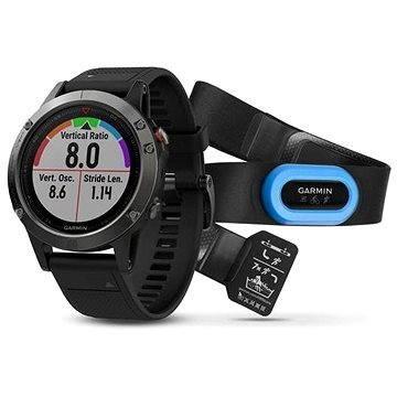 Černé chytré pánské hodinky Fenix 5, Garmin