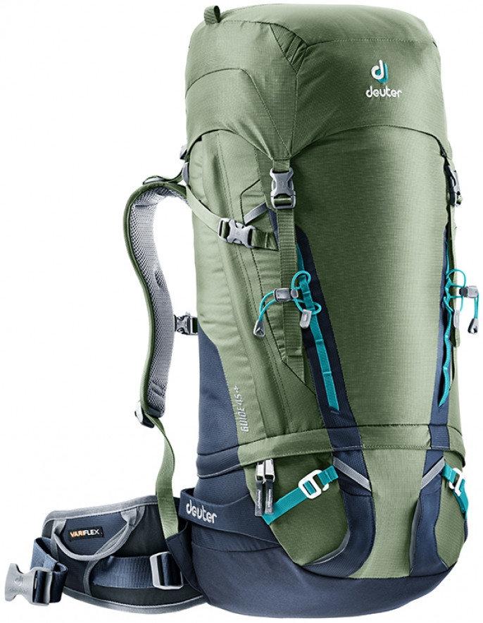 Khaki skialpový batoh Deuter - objem 45 l