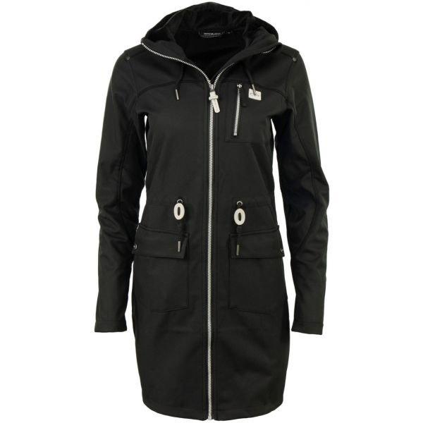 Černý nepromokavý dámský kabát Alpine Pro