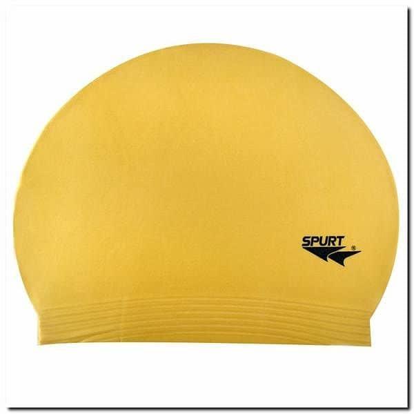 Žlutá pánská nebo dámská plavecká čepice SPURT