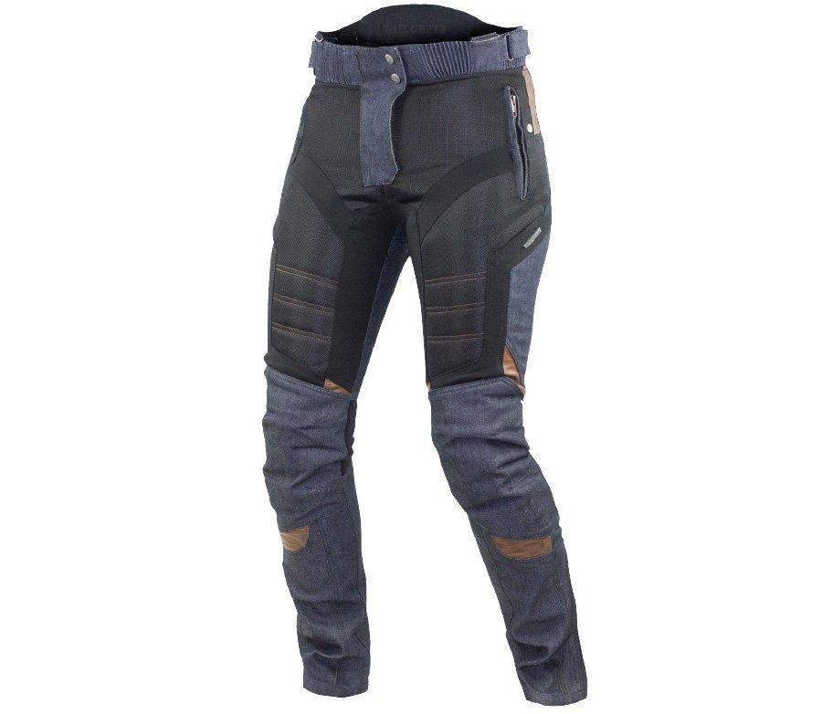 Modré dámské motorkářské kalhoty Trilobite