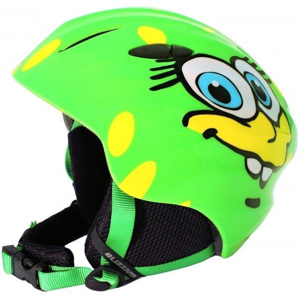 Zelená dětská lyžařská helma Blizzard - velikost 48-52 cm