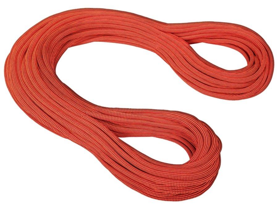Hnědé horolezecké lano Gravity Dry, Mammut - průměr 10,2 mm a délka 60 m