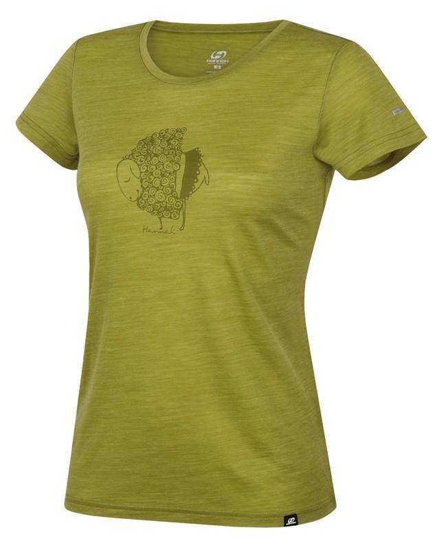 Zelené dámské tričko s krátkým rukávem Hannah - velikost 42
