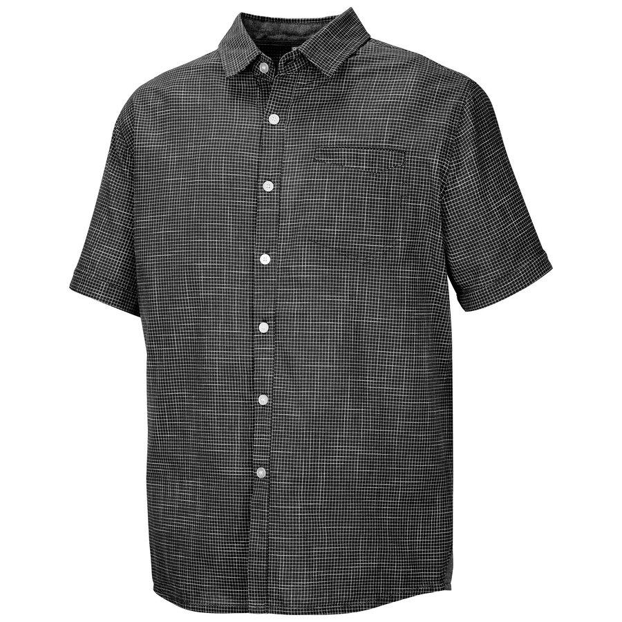 Černá pánská košile s krátkým rukávem Husky