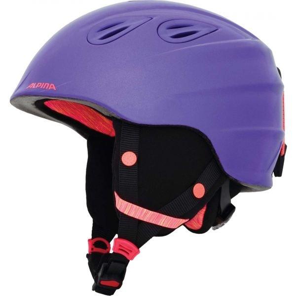 Fialová dětská lyžařská helma Alpina