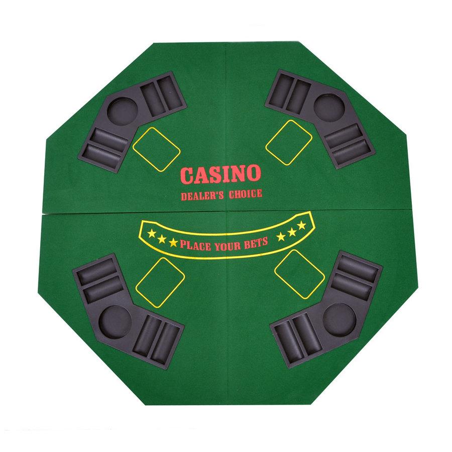 Zelený skládací pokerový stůl pro 4 osoby Spartan