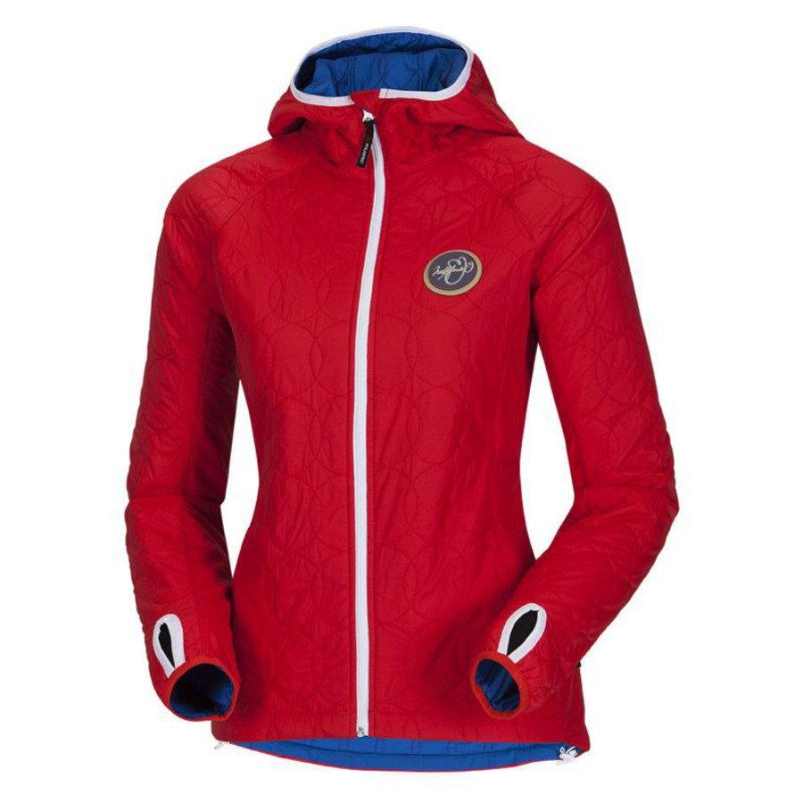 Červená dámská bunda na běžky NorthFinder