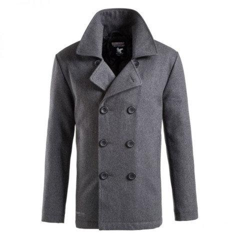 Kabát - Kabát PEA COAT ANTHRAZIT