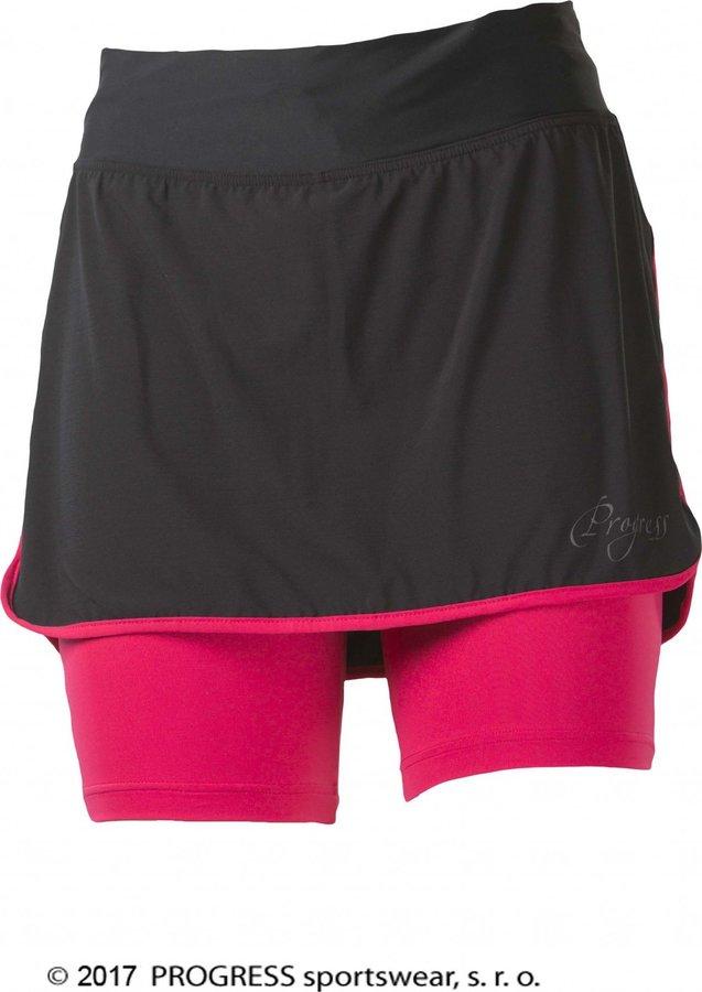 Černo-žlutá dámská běžecká sukně Progress - velikost S
