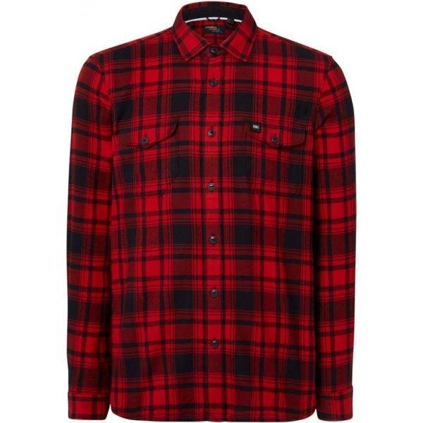 Černo-červená pánská košile s dlouhým rukávem O'Neill - velikost M