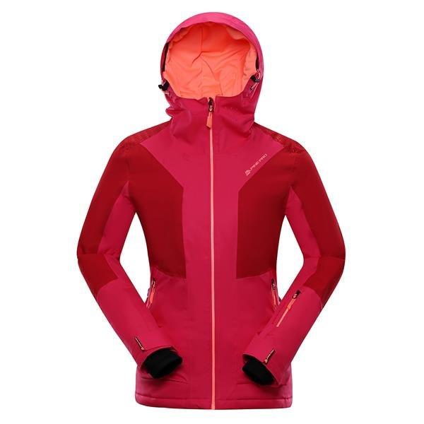 Růžová dámská lyžařská bunda Alpine Pro - velikost XL