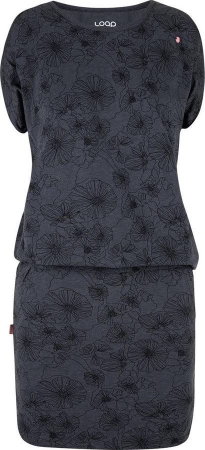 Šedé dámské šaty Loap - velikost XL