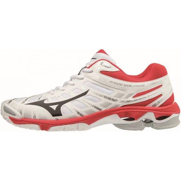 Bílo-červené pánské boty na volejbal Mizuno - velikost 44 EU