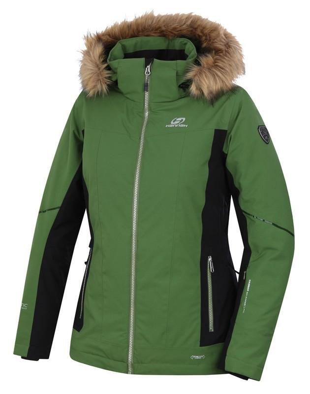 Černo-zelená dámská lyžařská bunda Hannah - velikost 36