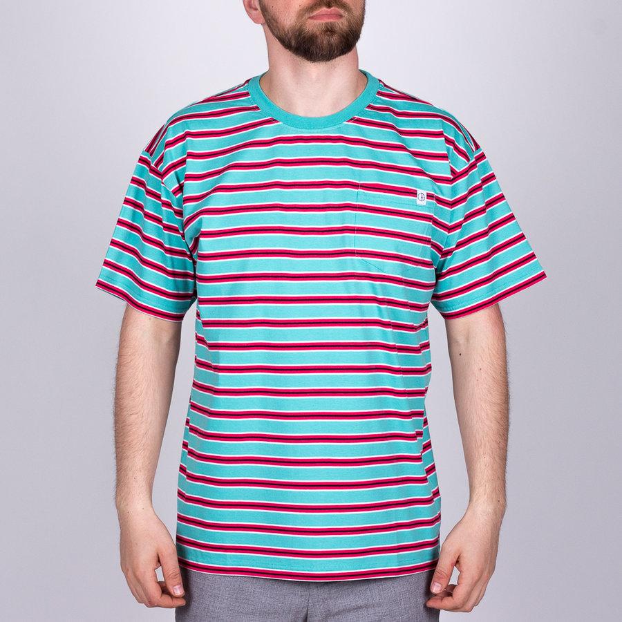 Modré pánské tričko s krátkým rukávem Polar