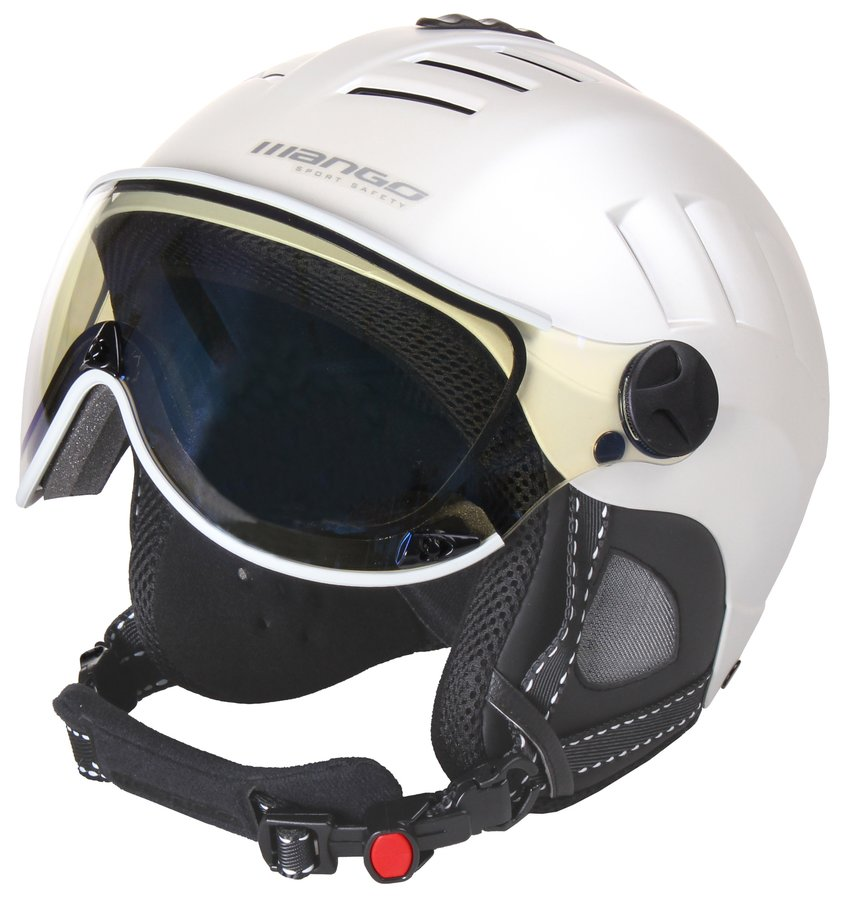 Stříbrná lyžařská helma Volcano VIP, Mango - velikost 56-58 cm