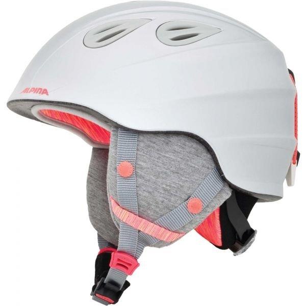 Bílá dětská lyžařská helma Alpina - velikost 51-54 cm