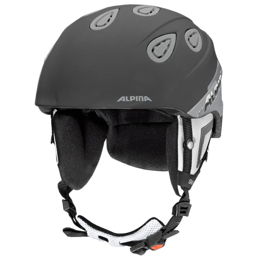 Šedá lyžařská helma Alpina - velikost 57-61 cm