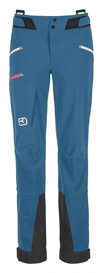 Modré softshellové dámské turistické kalhoty Ortovox - velikost M