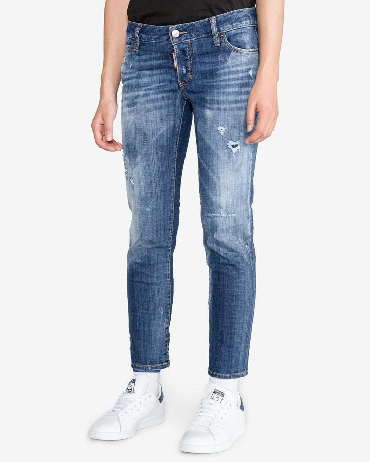Modré dámské džíny DSQUARED2