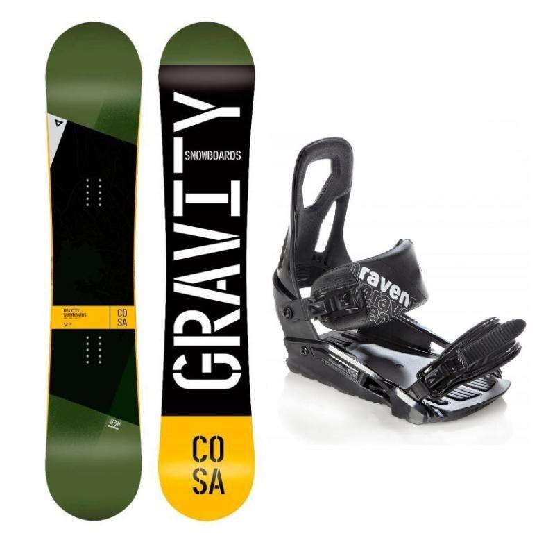 Snowboard s vázáním Gravity - délka 159 cm